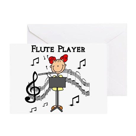 Flute Player Greeting Card