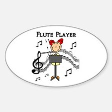 Flute Player Oval Decal