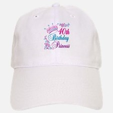 40th Birthday Princess Baseball Baseball Cap