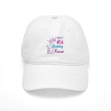 40th Birthday Princess Baseball Cap