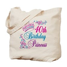 40th Birthday Princess Tote Bag