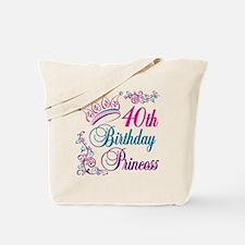 40th Birthday Princess Tote Bag