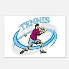 Men's Tennis Postcards (Package of 8)