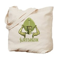Surfing Halloween Frankenstein Tote Bag