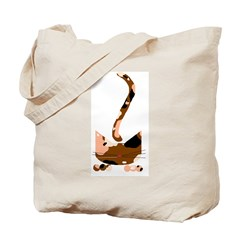 Calico Pounce Cat Tote Bag