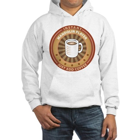 Instant Mandolin Player Hooded Sweatshirt
