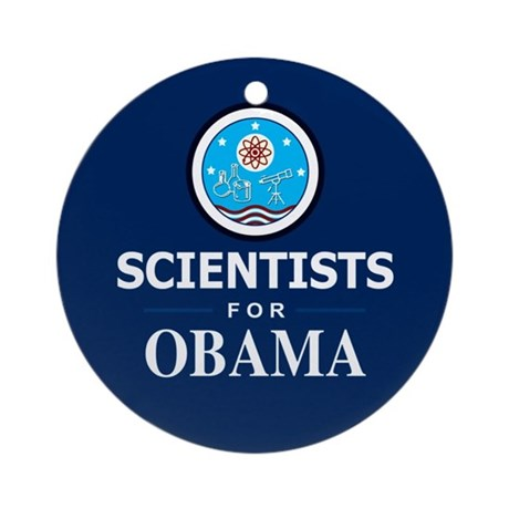 Scientists for Obama Ornament (Round)