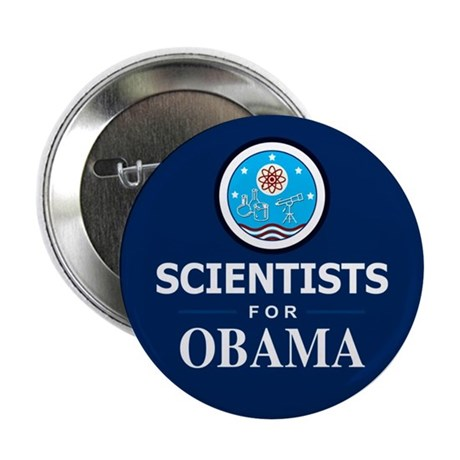 "Scientists for Obama 2.25"" Button"