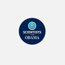 Scientists for Obama Mini Button