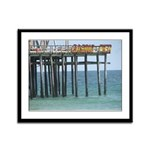 Casino Pier Framed Panel Print