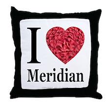 I Love Meridian Throw Pillow
