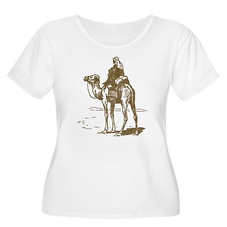 Vintage Camel Women's Plus Size Scoop Neck T-Shirt