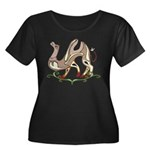 Stylized Camel Women's Plus Size Scoop Neck Dark T
