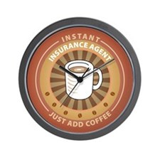 Instant Insurance Agent Wall Clock