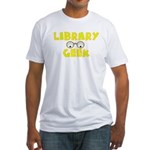 Library Geek Fitted T-Shirt