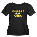 Library Geek Women's Plus Size Scoop Neck Dark T-S