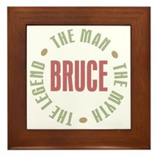 Bruce Man Myth Legend Framed Tile