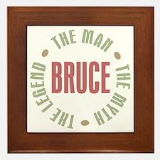 Bruce Man Myth Legend Framed Tile