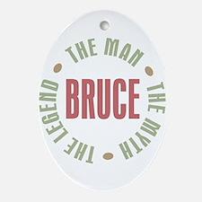 Bruce Man Myth Legend Oval Ornament