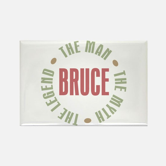 Bruce Man Myth Legend Rectangle Magnet