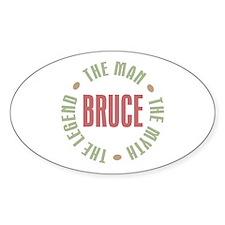 Bruce Man Myth Legend Oval Decal