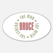 Bruce Man Myth Legend Oval Decal