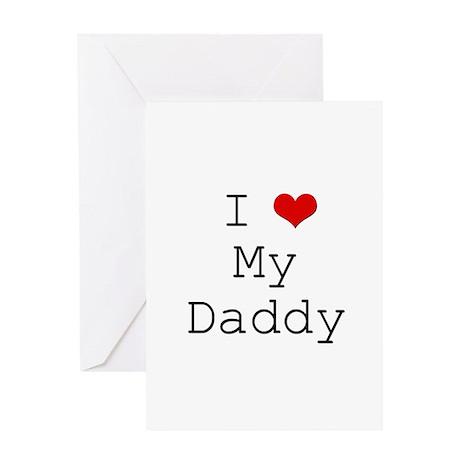I Heart My Daddy Greeting Card