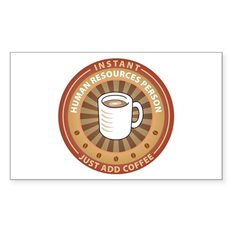 Instant Human Resources Person Rectangle Sticker