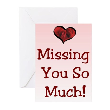 Valentine's Missing You Greeting Cards (Pk of 10)