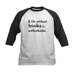 Life Without Books Kids Baseball Jersey
