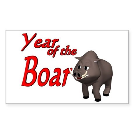 Year of the Boar (B) Rectangle Sticker
