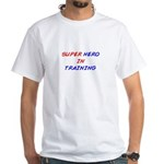 Super Hero White T-Shirt