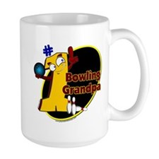 Yellow number 1 bowling grand Mug