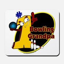 Yellow number 1 bowling grand Mousepad