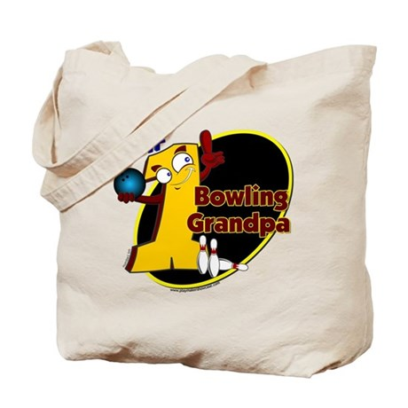 Yellow number 1 bowling grand Tote Bag