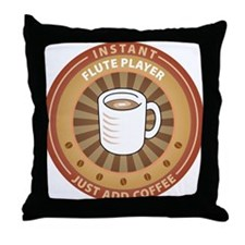 Instant Flute Player Throw Pillow