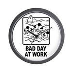 Bad Day at Work Wall Clock