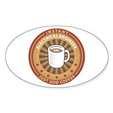 Instant Electrical Engineer Oval Decal