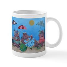 hippo sunbathers mug