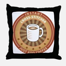 Instant Cross-stitcher Throw Pillow