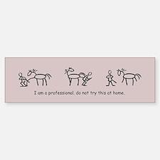 I am a Professional: Farrier / Bumper Car Car Sticker
