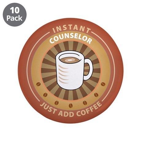 """Instant Counselor 3.5"""" Button (10 pack)"""