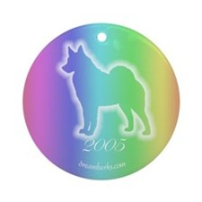 Norwegian Elkhound Rainbow Keepsake (Round)
