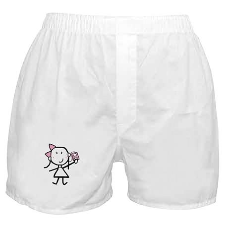 Girl & iPod Boxer Shorts