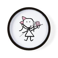 Girl & iPod Wall Clock