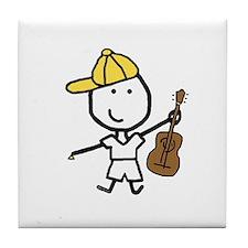 Boy & Guitar Tile Coaster