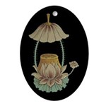 Chinese Blossoms Oval Ornament
