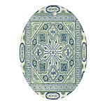 China (Blue) Oval Ornament