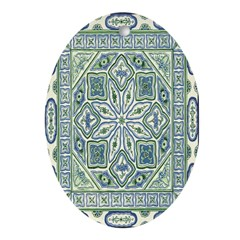 China (Blue) Oval Ornament