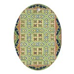 China (Green) Oval Ornament